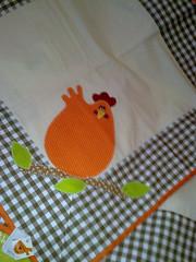Pano de fogo (Dipano Ateli) Tags: de galinha pano patchwork prato cozinha jogos tecido aplicao apliqu dipano
