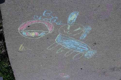 Easter chalk drawing