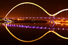 Middlesbrough Infinity Bridge Night Shot (capturedcanvas.co.uk) Tags: longexposure nightphotography bridge brown black art night buildings river photography lights photo long exposure university bright britain infinity lakes canvas empire middlesbrough northeast 450d canon450d photosoncanvas empireart
