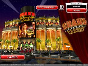 Grand Online Casino Lobby