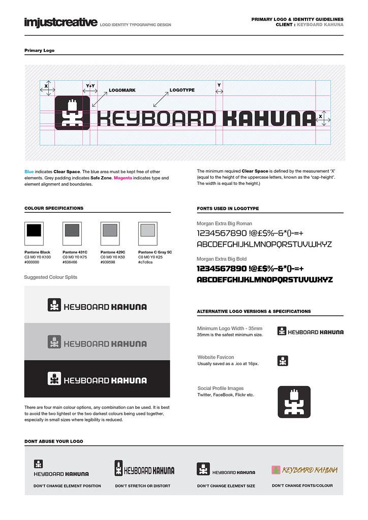 Identity Guidelines - Keyboard Kahuna Logo
