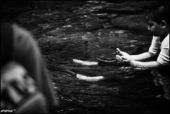 The Prayer (potophlayər™) Tags: trip cold nature water waterfall kid nikon praying stranger yan malaysia thursday 50200mm chill kedah d60