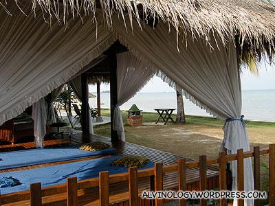 The pavilion for massage