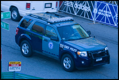 Hybrid Ford Escape Statie?.. MSP 199 (Nick Gillham) Tags: blue trooper boston state marathon massachusetts msp led hopkinton statetrooper electricblue statepolice bostonmarathon pushbar staties statie massachusettsstatepolice frenchblue pushbumper massstatepolice 2010bostonmarathon 114thbostonmarathon masspolice massstaties massachusettsstaties