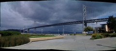 Panorama I shot of the bridge. I <3 San Francisco
