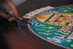 White Tara Mandala - Day 4 - Sarasota, Florida (J Eberl) Tags: white color design sand colorful tour tara florida arts monk mandala tibet monastery april sarasota mystical lama van drepung wezel
