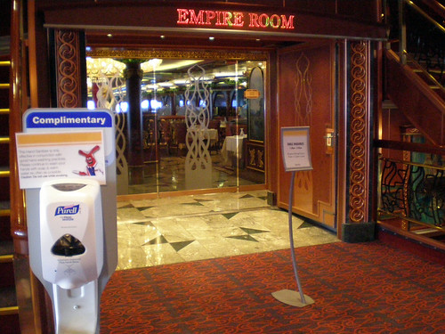 Carnival Spirit - Empire Room and Sanitizer
