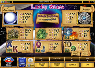 free Lucky Stars slot mini symbol