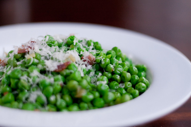 Peas with Pancetta and Parmesan