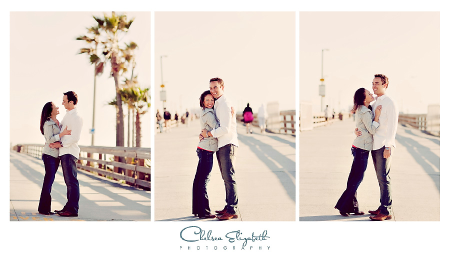 Newport Beach Pier vintage engagement session