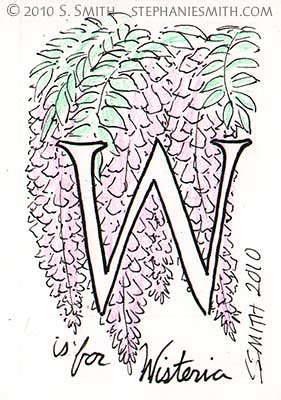 W is for Wisteria