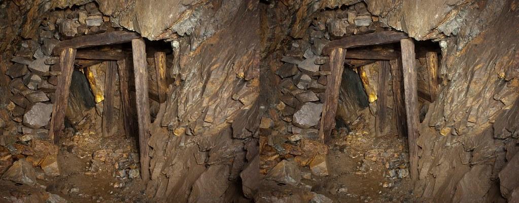 Galerie boisée sous les stériles
