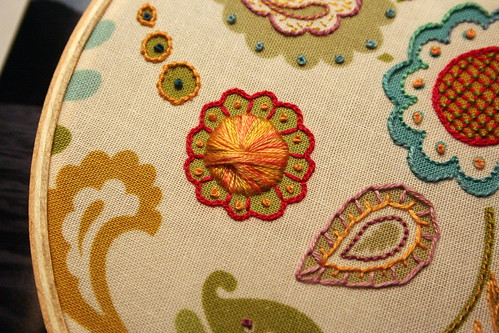 Floral Fabric Sampler - Detail