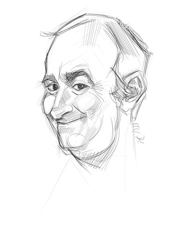 digital sketch of Gerardo Oroz Gomez - 1