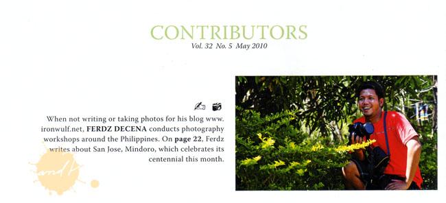 Mabuhay May 2010 Contributor