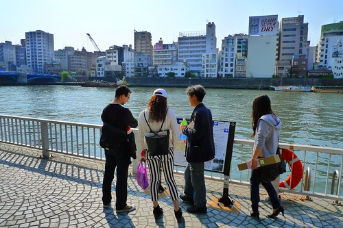Standing by Sumida River