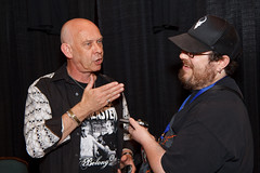 Doug Bradley doing another interview (Ian Aberle) Tags: southwest festival dallas texas doug cc bradley convention creativecommons horror irving fest pinhead 2010 tfw hellraiser frightmare texasfrightmareweekend dougbradley ©ianaberle upcoming:event=6657330 txfw