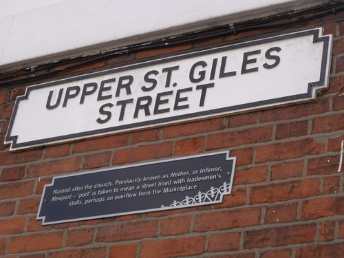 Upper St Giles Street - Norwich - road sign