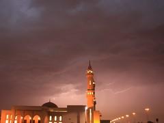 Mosque (Moe M) Tags: light storm water rain clouds may mosque arab saudi arabia lightning lightening riyadh thunder 2010