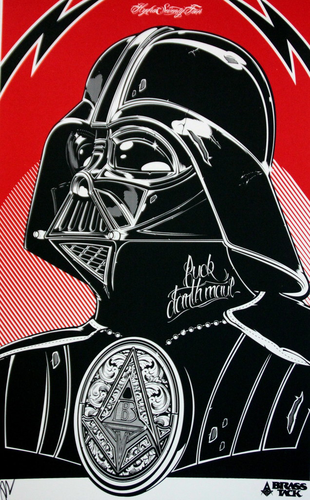 """Vader"" Screen Print by HYDRO 74"
