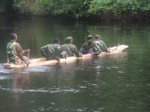 military crossing the Kasuku River