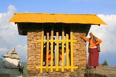 Om Mani Padme Hum ! Faith, ageless  - Pelling (Monsoon Lover) Tags: life india flickr blind faith religion buddhism bluesky nun tibetan himalaya sikkim tantra amitayus pelling bluebuddha westsikkim sangachoeling sudipguharay khandola