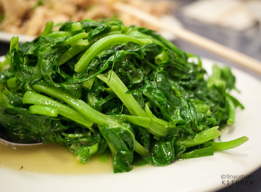 Pea Shoots with Garlic