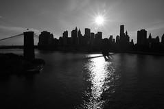 Brooklyn Bridge tower shadow (SpecialKRB) Tags: newyorkcity bw newyork manhattan brooklynbridge eastriver gothamist lowermanhattan curbed karenblumberg specialkrb