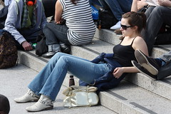 Trafalgar Square - London - April 2010 - Relax