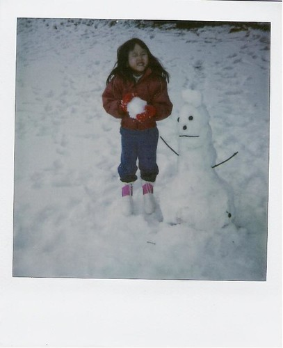 Cadie and snowman