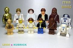 LEGO X KUBRICK (Legobrick) Tags: starwars lego kubrick r2d2 chewbacca leia c3po hansolo