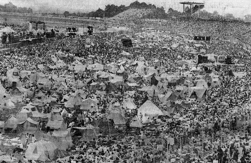View of Crowd at the August Jam in 1974