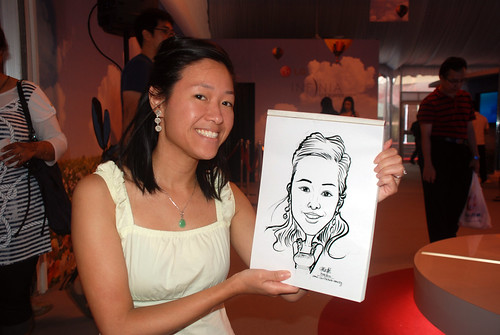 caricature live sketching for LG Infinia Roadshow - day 1 - 20