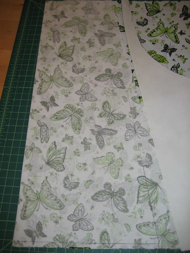 Suesse Sac pattern being traced