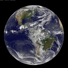 NASA GOES-13 Full Disk view of Earth May 28, 2010