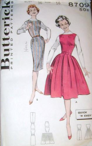 Butterick 8709 vintage pattern