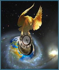 The seal (jaci XIII) Tags: eagle surrealism watch galaxy planet relgio planeta guia surrealismo galxia