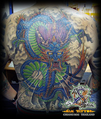 Artist Sam Tattoo & Body Piercing In Chiang Mai Thailand, in Galare Night Bazaar (Opposite Pizza Hut)