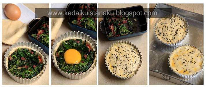 Step by Step Hidden Egg Puff Pastry
