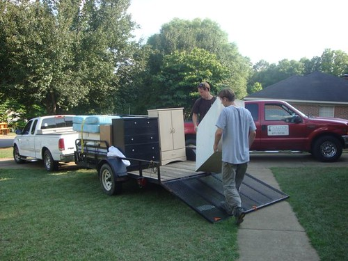 Loading the trailer