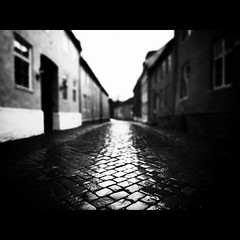 Stories from the City, Part V (Christer Johansen) Tags: street leica city blackandwhite bw rain norway explore trondheim frontpage dlux4