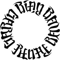 """Rian"", ""Ravyn"", ""Renae"" & ""Garyn"" Ambigram Circle"