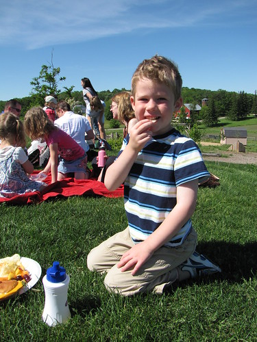 Benjamin's class picnic at school