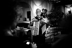 the dutchman (Shaun Roberts) Tags: sanfrancisco bw 80thbirthday dutchman accordianplayer siet