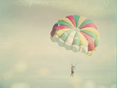 on top of the world - explored!!! (sma_kee) Tags: ocean sea summer sky texture colors pastels parasailing parachute summerlove ontopoftheworld happycolors vintagetones texturelove