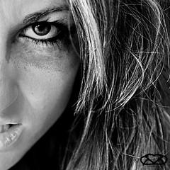 ALTER (Vrancisca) Tags: portrait people blackandwhite bw woman white black gelo girl beautiful self canon blackwhite donna eyes fear occhi forza 5d ira ritratti fury vita bellezza tristezza particolari rabbia esistenza pensiero terrore fastidio espressione monocromatico conflitto femminilit durezza esigenza distacco