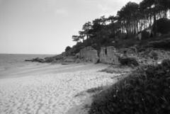 Praia de Area Secada, Ribeira (trabancos) Tags: santa camera bw byn fi