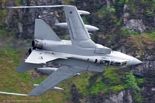 Tornado GR4 Low Flying Aircraft in the Mach Loop in Wales