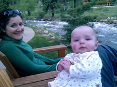 By the river with my women.