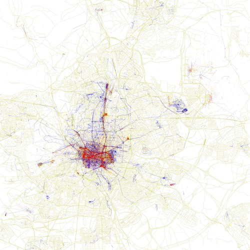 Locals and Tourists #20 (GTWA #15): Madrid (by Eric Fischer)
